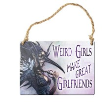 Alchemy England 1977 Weird Girls Make Great Girlfriends Sign