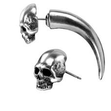 Alchemy England 1977 Tomb Skull Horn Earring
