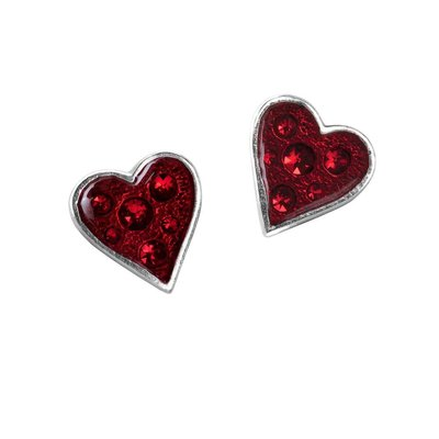 Alchemy England 1977 Heart's Blood Earrings