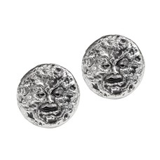 Alchemy England 1977 Man In The Moon Stud Earrings