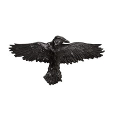Alchemy England 1977 Black Raven Hair Slide