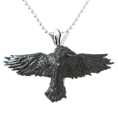 Alchemy England 1977 Black Raven Pendant