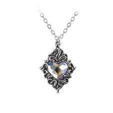 Alchemy England 1977 Crystal Heart Pendant