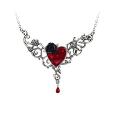Alchemy England 1977 The Blood Rose Heart Pendant