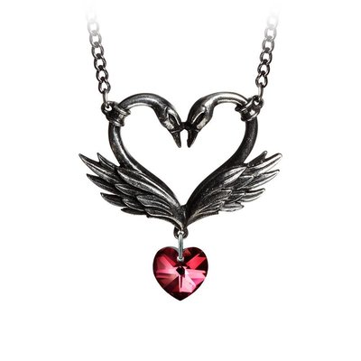 Alchemy England 1977 The Black Swan Romance Necklace