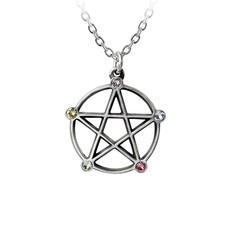 Alchemy England 1977 Wiccan Elemental Pentacle Necklace