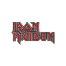 Alchemy England 1977 Iron Maiden: Enamelled Logo Pin