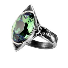 Alchemy England 1977 Absinthe Fairy Spirit Crystal Ring