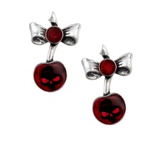 Alchemy England 1977 Black Cherry Earrings