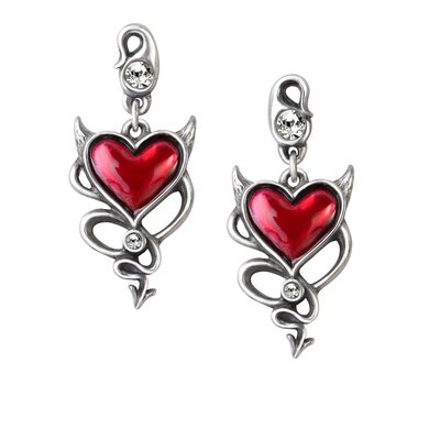 Alchemy England 1977 Devil Heart Earrings
