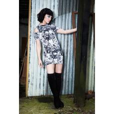 Jawbreaker Flora Skulls Cold Shoulder Dress XL