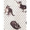 Smak Parlour Cats On Fishnet Stretch Crepe Shift Dress