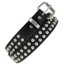 Kookie Round Studs Belt Black
