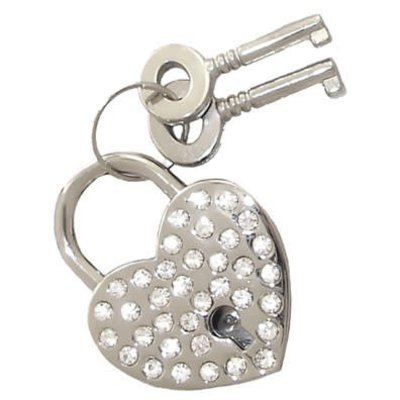 Kookie Heart Shaped Lock With Rhinestones
