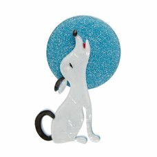 Erstwilder Ozzie The Orator (dog & moon) Brooch
