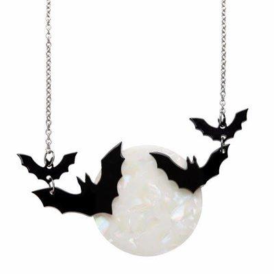 Erstwilder Trick Or Treat Necklace (Moon & Bats)