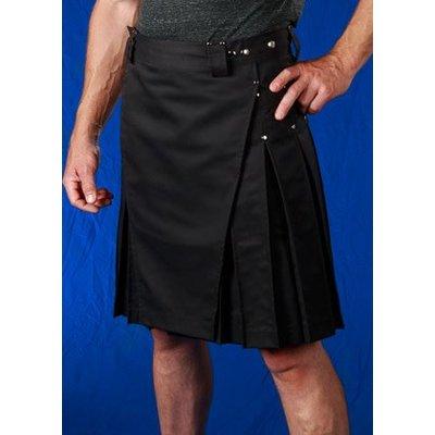 StumpTown Kilts Men's Black Kilt w/ Chrome Rivets