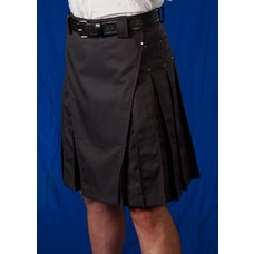 StumpTown Kilts Men's Gray Kilt w/ Gun Metal Rivets