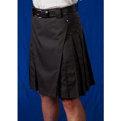 StumpTown Kilts Men's Gray Kilt w/ Gun Metal Rivets