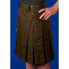StumpTown Kilts Men's Olive Kilt w/ Gun Metal Rivets