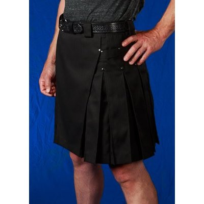 StumpTown Kilts Men's Pinstripe Kilt w/ Gun Metal Rivets