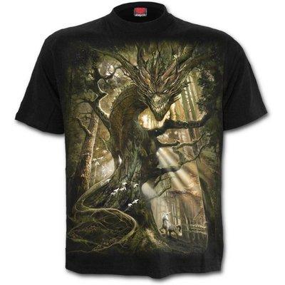 Spiral DRAGON FOREST - T-Shirt Black