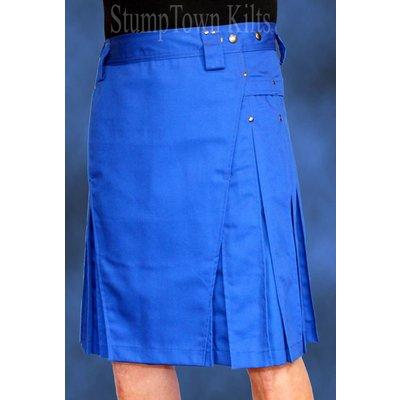 StumpTown Kilts Men's Royal Blue Kilt w/Gunmetal Rivets