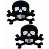 Pastease Skull: Black and White Skull & Crossbones Nipple Pasties