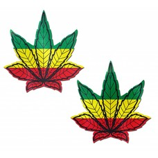 Pastease Indica Pot Leaf: Rasta Weed Nipple Pasties