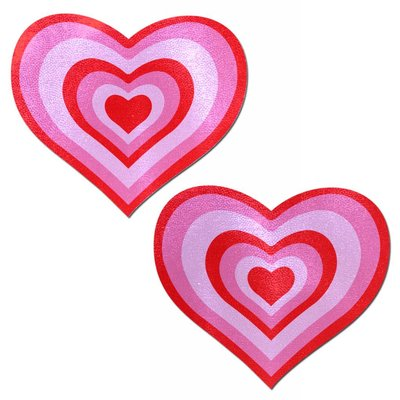 Pastease Love: Red & Pink Pumping Heart Nipple Pasties