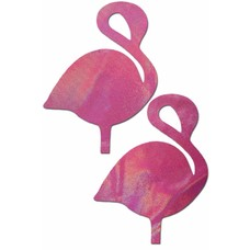 Pastease Flamingo: Holographic Bubblegum Pink Flamingos Nipple Pasties
