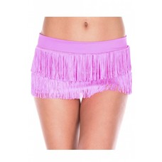 Fringed Mini Skirt - One size