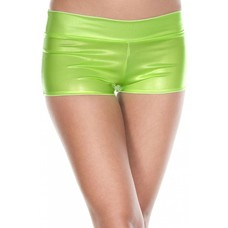 Neon Green Booty Shorts with Waistband
