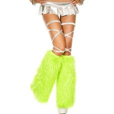 Faux Fur Neon Green Fluffies