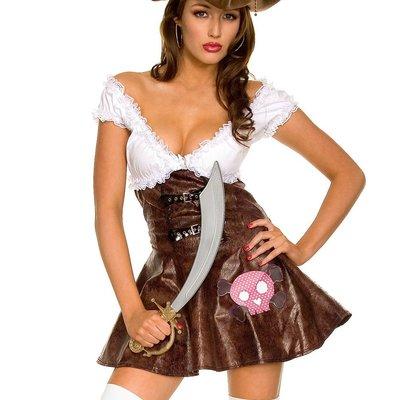 Music Legs Buccaneer Beauty Sexy Pirate Dress - ML