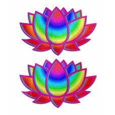 Pastease Lotus: Acid Rainbow Lotus Nipple Pasties