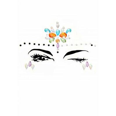 Leg Avenue Calypso Face Jewels 3 Pc Stick-On