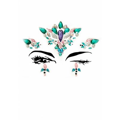 Leg Avenue Aria Face Jewels 5 Pc Stick-On