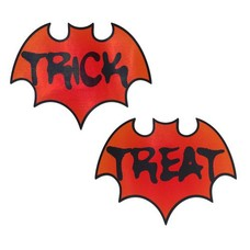 Pastease Vamp: Blood Orange Halloween Trick or Treat Bat Nipple Pasties