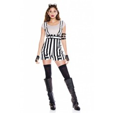 Music Legs Steampunk Fantasy Outfit 5pc. B/W