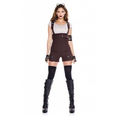 Steampunk Pilot Outfit 5pc. Brown