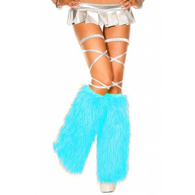 Faux Fur Turquoise Fluffies