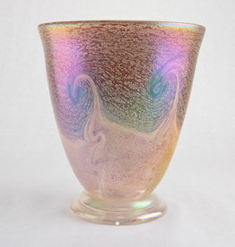 Eric Dandurand Orange & Amber Iridescent Ascension Vase, Eric Dandurand