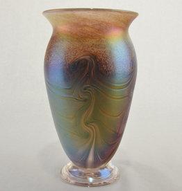 Eric Dandurand Orange & Amber Iridescent Ascension Vase, Eric Dandurand