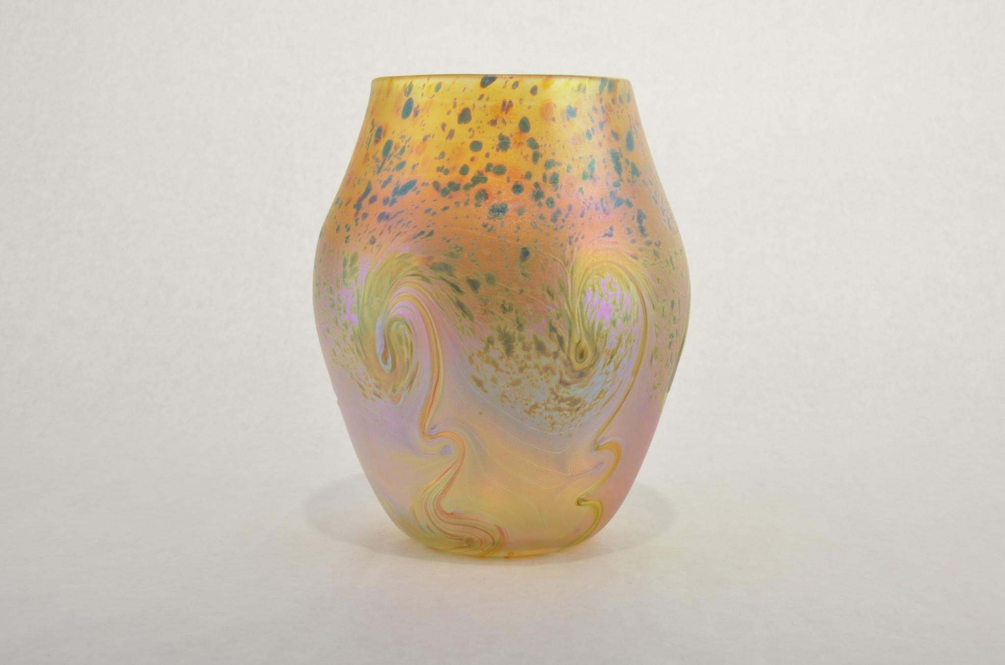 Eric Dandurand Ascension Vase Gold & Aqua