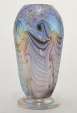 Eric Dandurand Blue, Purple & Gold Iridescent Ascension Vase