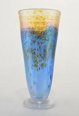 Eric Dandurand Blue & Gold Iridescent Ascension Vase