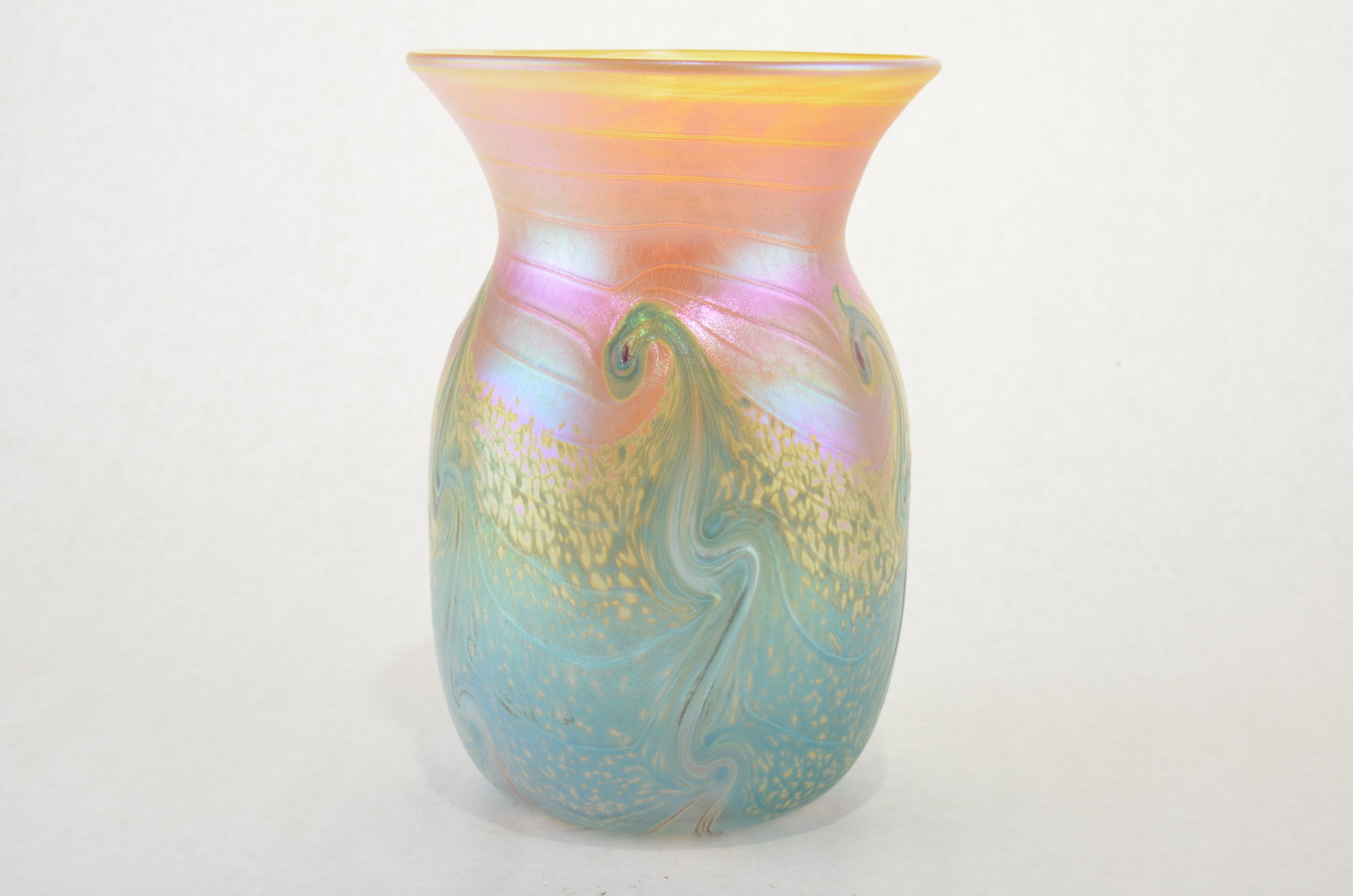 Eric Dandurand Blue & Gold Ascension Vase