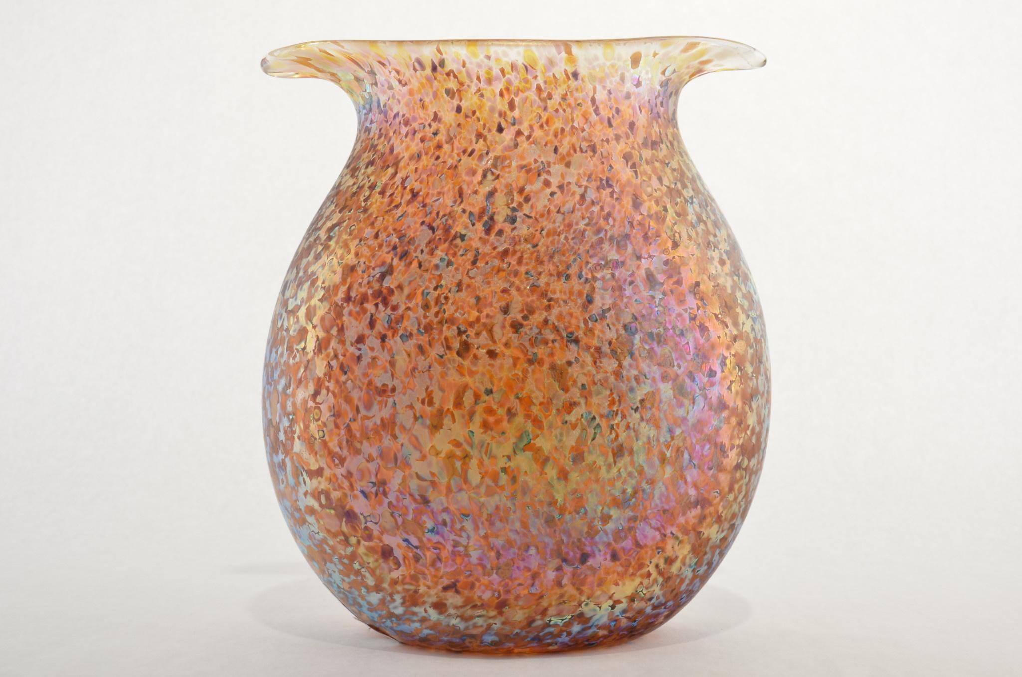 Eric Dandurand Amber Confetti Creve Vase - Eric Dandurand