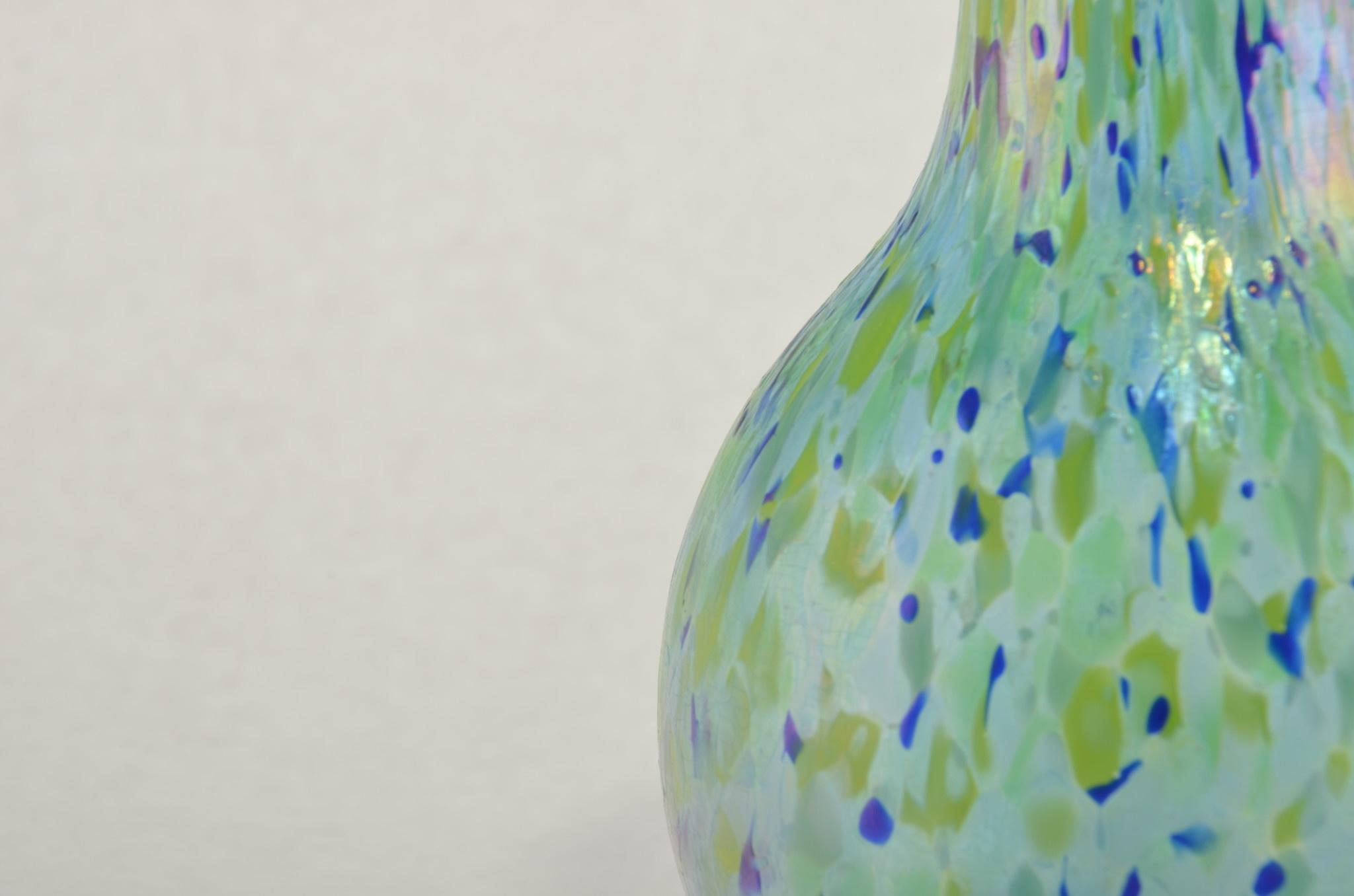 Eric Dandurand Monet Vase Eric Dandurand  blues greens